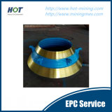 Alte parti del frantoio dei pezzi di ricambio/cono del frantoio della parte/cono del frantoio dell'acciaio di manganese di qualità certa