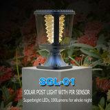 Lámpara solar del jardín LED con venta recargable de los paneles solares