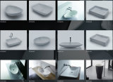 Banheira de mármore cultivada Caststone autônoma redonda da banheira
