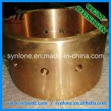 Bucha de bronze com processo fazendo à máquina