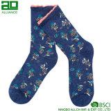 Floral Knitted Wholesale Custom Kids Socks