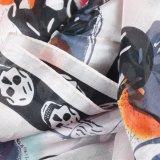 As mulheres vendem por atacado o lenço de seda impresso da alta qualidade cabeça de esqueleto