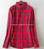 Chemise à carreaux Femme Rouge