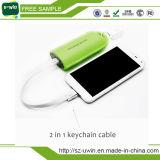 Bloco externo da bateria do banco de couro da potência para o iPhone Samsung Smartphone