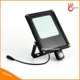o diodo emissor de luz solar ao ar livre do diodo emissor de luz 15W 120 ilumina projectores solares leves do jardim com o sensor de movimento de PIR