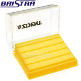 熱い販売して24の穴はプラスチックAzdent歯科Burボックスを黄色にする