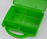 Kit de primeros auxilios del color verde del caso duro del verde