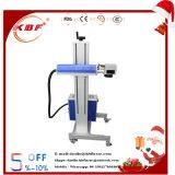 Máquina de la marca del laser de la mosca del no metal fibra del grado 30W y del metal portables superiores del CO2 para el conjunto del alimento