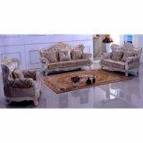 Sofá de cuero de madera para los muebles de la sala de estar (los 992M)