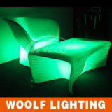 Hot Sales Outdoor Rechargeable Colorful Furniture LED Single Sofa