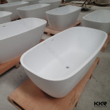 Cuba de banho autônoma de pedra artificial de superfície contínua branca