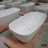 Vasca di bagno indipendente di pietra artificiale di superficie solida bianca