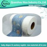 Película laminada el PE no tejido adulto de Backsheet del pañal del bebé de la materia textil del pañal