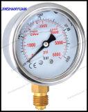 """2.5 """" 액체에 의하여 채워지는 압력 계기--밑바닥 유형"""