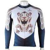 Куртка спортов способа шаржа сделанная по образцу тигром покрывает втулка Breathable быстро сухой задействуя Джерси людей длинняя синий