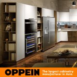 Gabinete de cozinha de madeira da laca Matte moderna de Oppein (OP16-122B)