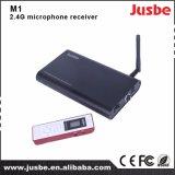 M1中国の工場教室のための受信機が付いている小型無線電信2.4Gのマイクロフォン