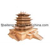 중국 전통적인 문화를 가진 나무로 되는 탑