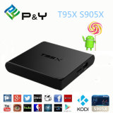 T95X Doos van TV van de Download van Amlogic S905X 2.4G WiFi Apk de Androïde