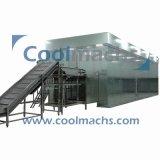 Industrielle IQF Gefriermaschine-Maschinen der Tiefkühlkost-verflüssigte Fluss-Bett-Tiefkühlverfahren-Maschinen-Böe-