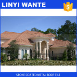 Гальванизировано настилающ крышу лист, плитка крыши металла цветастого камня Coated для всего здания структуры видов