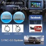 De VideoInterface van de auto voor de Fusie Mondeo Ecosport enz. van de Rand van de Fiesta van de Nadruk van Sync G3 Kuga van de Doorwaadbare plaats, het Androïde Facultatieve Achtergedeelte van de Navigatie en Panorama 360