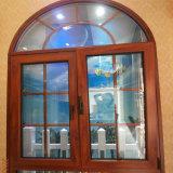 Verwendetes Aluminiumluftschlitz-Fenster-Glas-Tür-Glasfenster rund