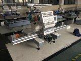 最上質の単一のヘッド刺繍機械は管状の平らな衣服のTシャツの刺繍機械に蹄鉄を打つ