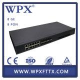 Accesos Epon Olt 8 Pon del Uplink 10ge 8 de la ruta de la capa 3
