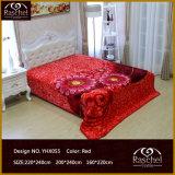 100%年のポリエステル韓国様式の極度の柔らかい毛布のミンク毛布