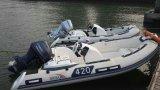 13.12FT 늑골 배, 팽창식 섬유유리 배, 스포츠 어선, Rib390c