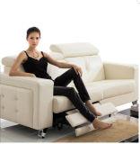 O sofá da sala de visitas com o sofá moderno do couro genuíno ajustou-se (404)