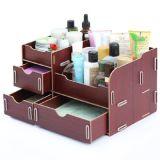 Le produit de beauté de DIY composent la boîte de stockage cosmétique de bijoux d'organisateur