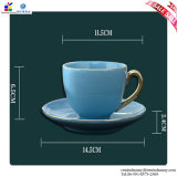 Coppie a Ceramic Cup di Afternoon Tea Cups e di Saucers Suit
