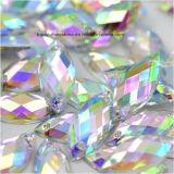 Het acryl Bergkristal naait op Vlakke Achter AcrylParels Ovale AcrylSteen (sW-Ovaal/het oog van het paard 7*15)