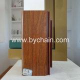 Perfis de alumínio de transferência de madeira da grão para a grelha Windows