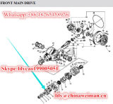 Il sistema di Alxe del caricatore della rotella di Sdlg LG956 LG958 parte la flangia 29070011091 dell'input