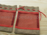 Customized élégant Jute Shopping Tote Bag (hbju-137)