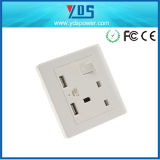 3 Pin Britannici Socket elettrico, USB BRITANNICO Socket Outlet di Wall Electric