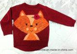 子供のセーター女の子のIntarsiaの本当の編まれたセーター