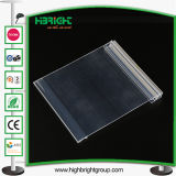Clear PVC Plastic Titers Price Tags com fita adesiva