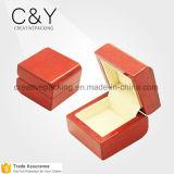 Caixa de madeira do anel da jóia do casamento feito sob encomenda