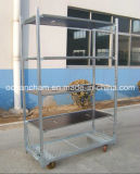 La flor del metal estante de exhibición de la compra de efecto invernadero