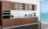 Kundenspezifisches Melamin-kommerzielle moderne Küche-Schrank-Möbel (zg-048)
