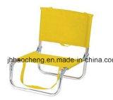 Openlucht Aluminium die Ligstoel met de Stof van de Streep vouwen