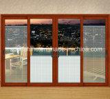 Моторизованные шторки алюминия в изолированном Tempered ясном стекле для окна или двери