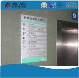 An der Wand befestigtes Büro-Aluminiumflaches Innenzeichen