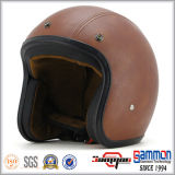 De hete Helm van het Leer van de Verkoop voor de Ruiter van de Motorfiets/van de Motor/van de Autoped (OP238)