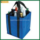 Vente en gros sac en vinyle en polyester 9 bouteilles (TP-WB063)