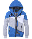 Vente en gros Custom Men Zipper up Contrast Color Hoodies